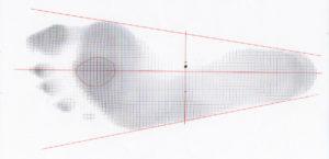足の裏の計測図