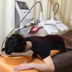 マイクロ波での温熱療法の様子